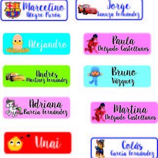 Etiquetas y pegatinas personalizadas